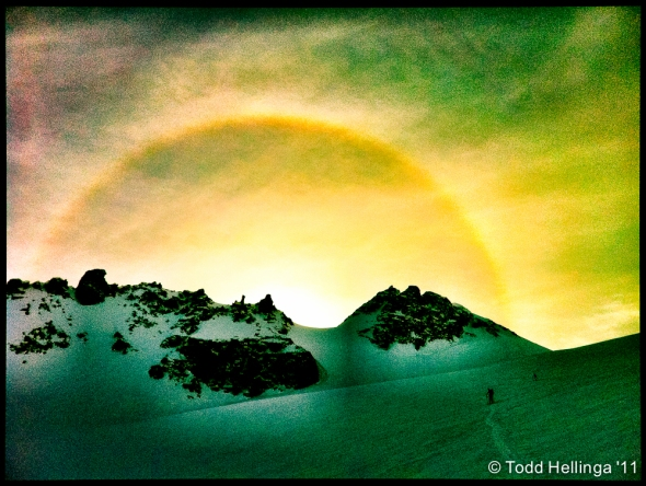 Rasta Sun Dog over Anniversary Glacier